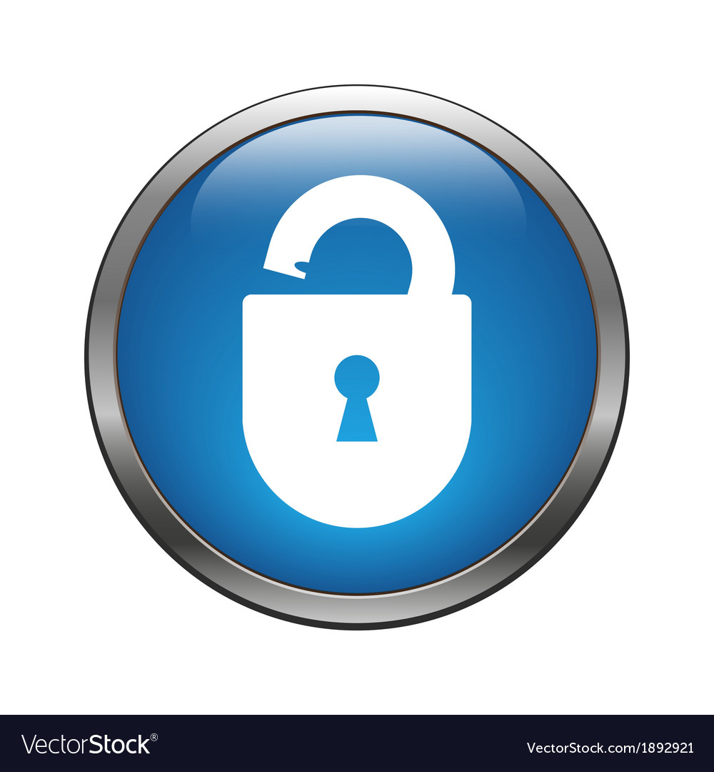 Unlock icon vector | Price: 1 Credit (USD $1)