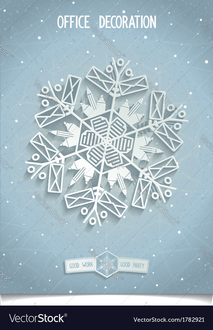 White 3d stylised snowflake vector | Price: 1 Credit (USD $1)