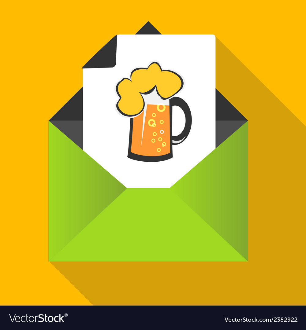 Beer concept with mug on a letter background vector | Price: 1 Credit (USD $1)