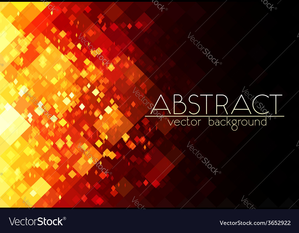 Bright orange fire grid abstract horizontal vector | Price: 1 Credit (USD $1)