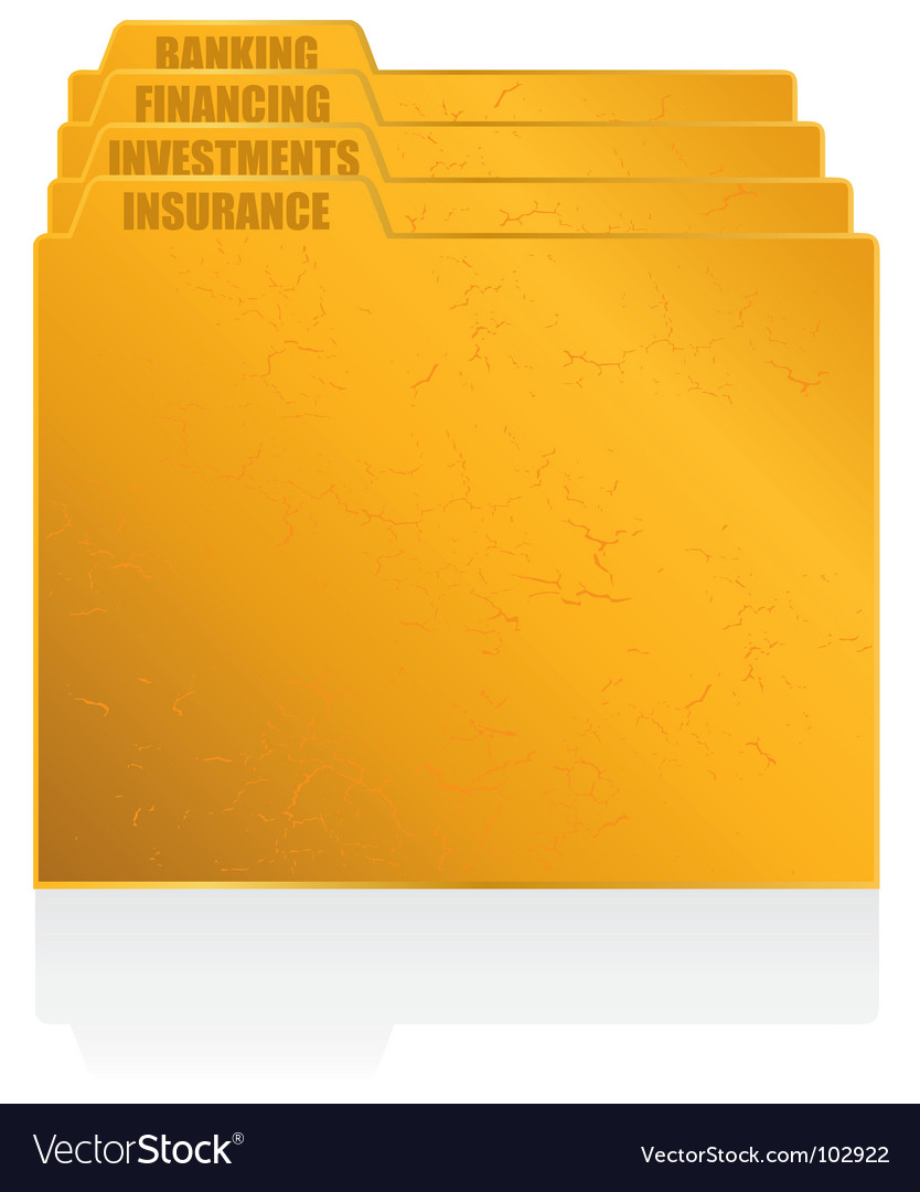 Filing folders vector   Price: 1 Credit (USD $1)