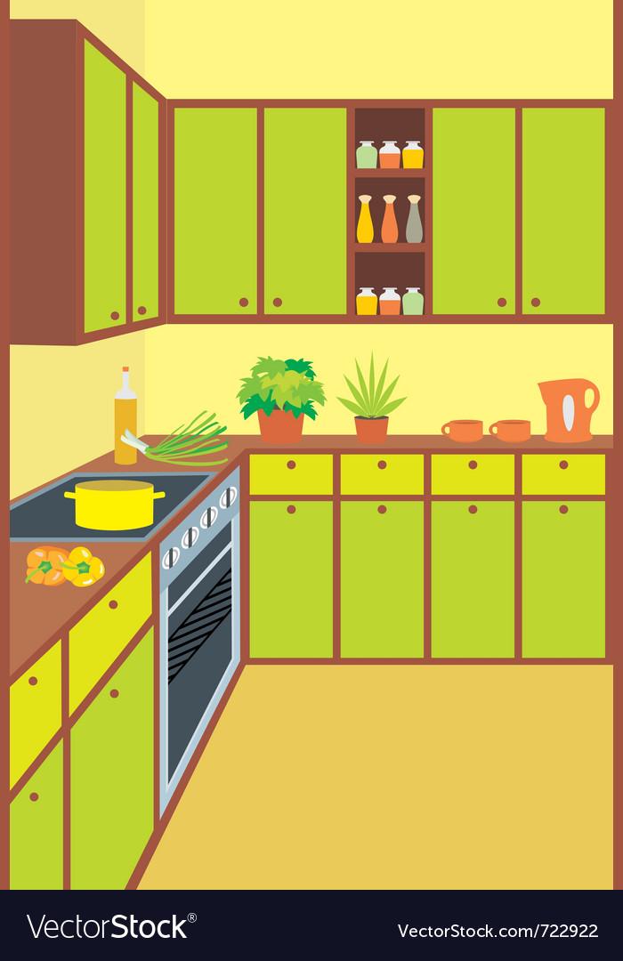 Kitchen furniture vector | Price: 1 Credit (USD $1)