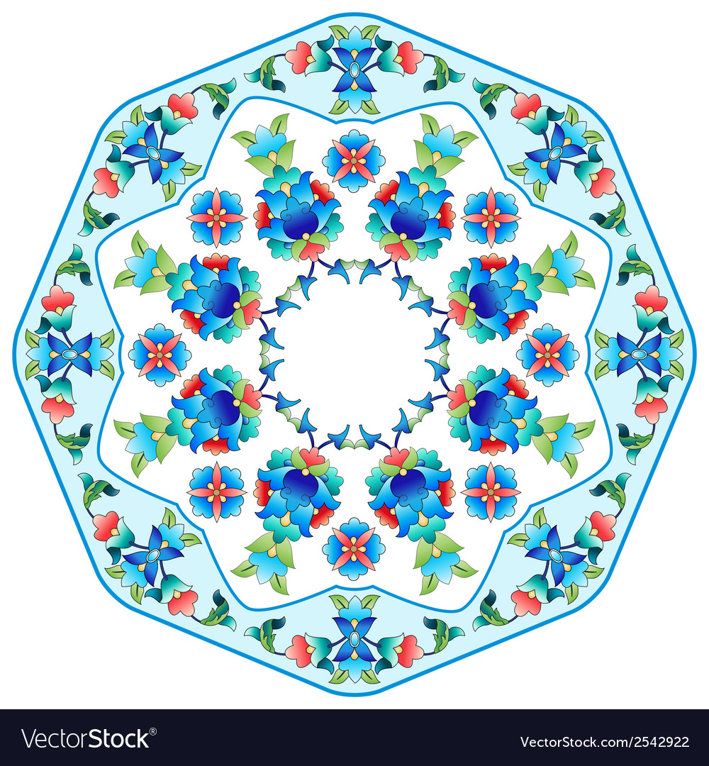 Ottoman motifs design series sixty five vector | Price: 1 Credit (USD $1)