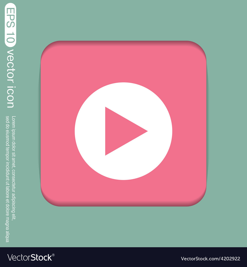 Play web icon on background vector | Price: 1 Credit (USD $1)
