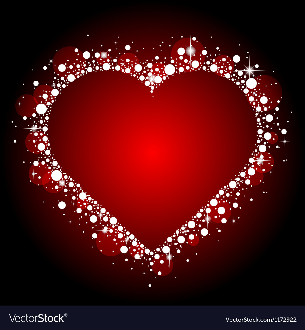Red frame with shiny heart vector | Price: 1 Credit (USD $1)