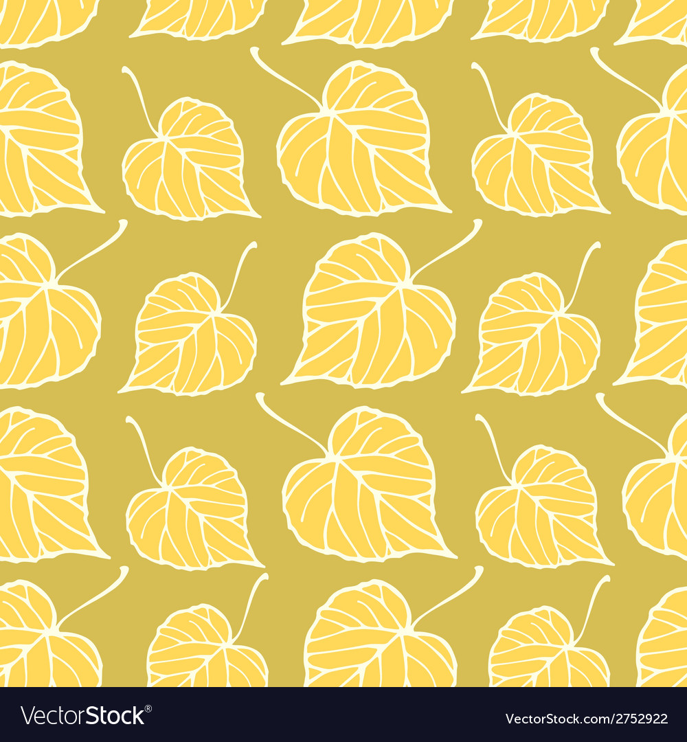 Seamless pattern with falling leaves vector | Price: 1 Credit (USD $1)
