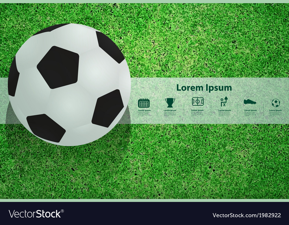 Soccer ball on the field design template vector | Price: 1 Credit (USD $1)