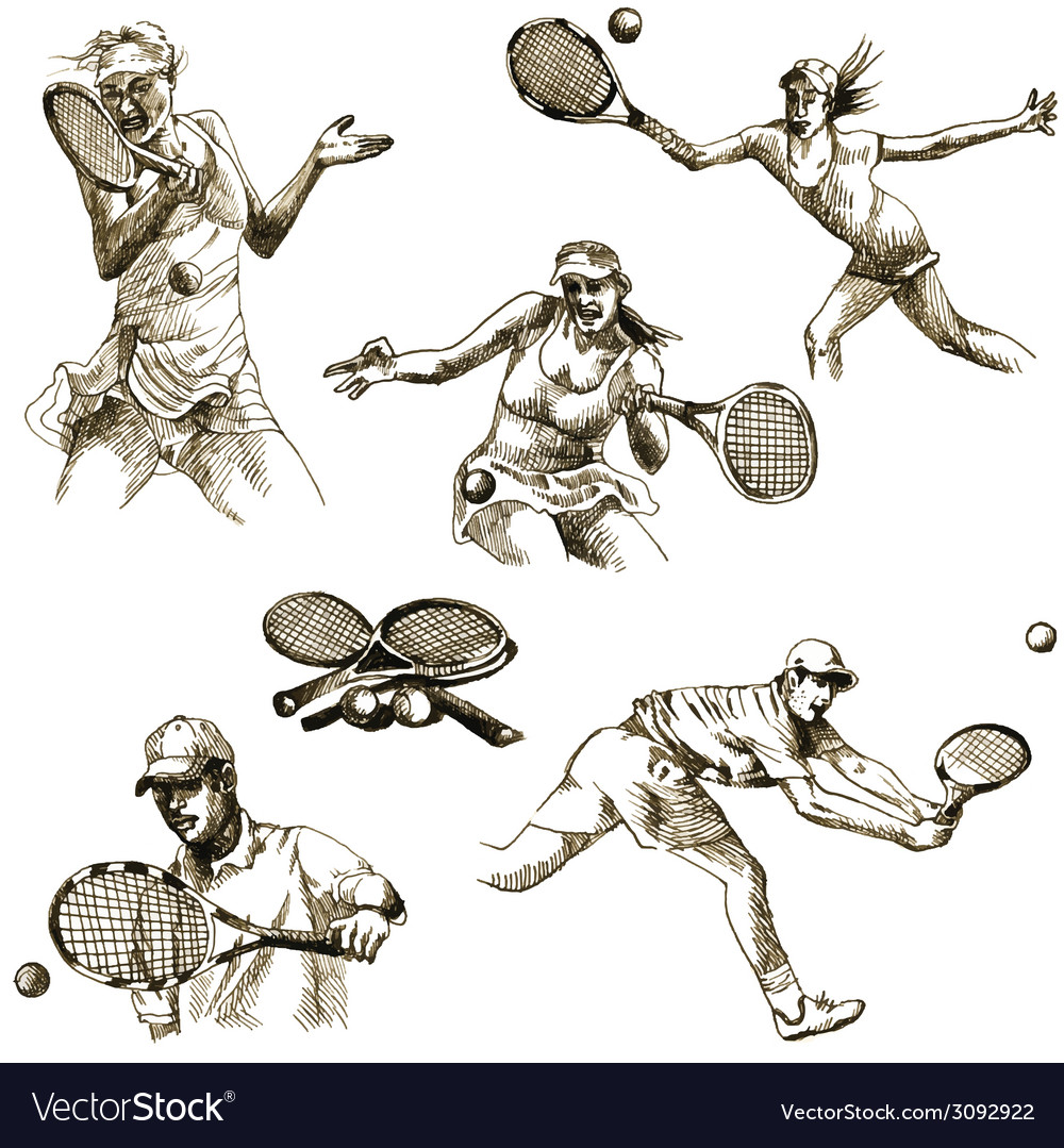 Tennis collection vector | Price: 1 Credit (USD $1)