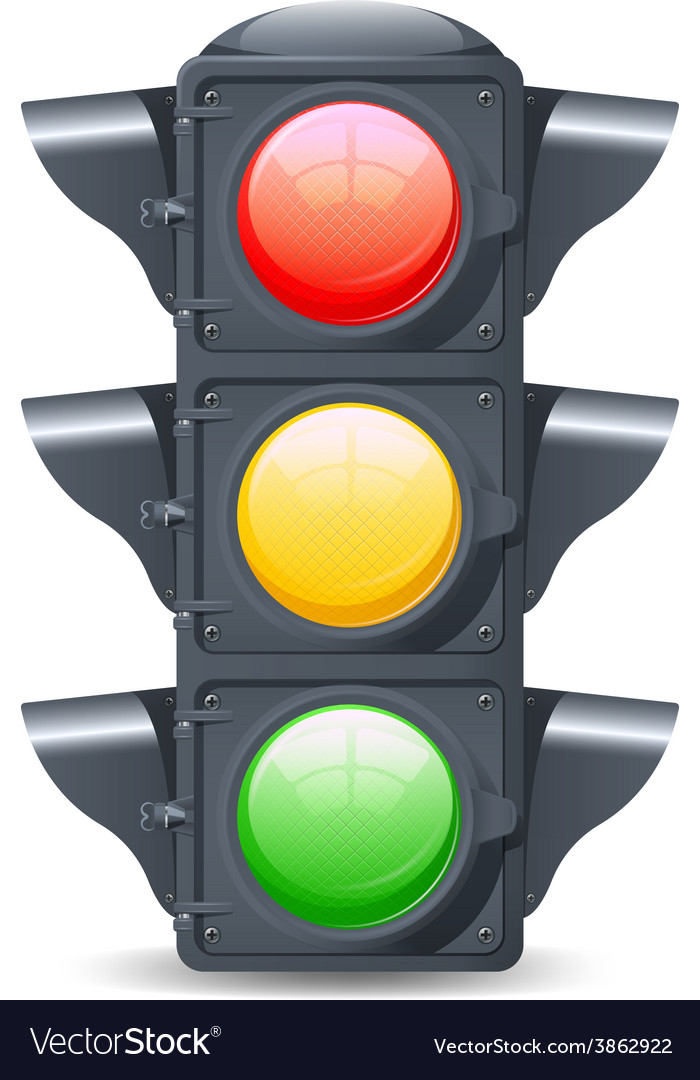 Traffic lights realistic vector | Price: 1 Credit (USD $1)