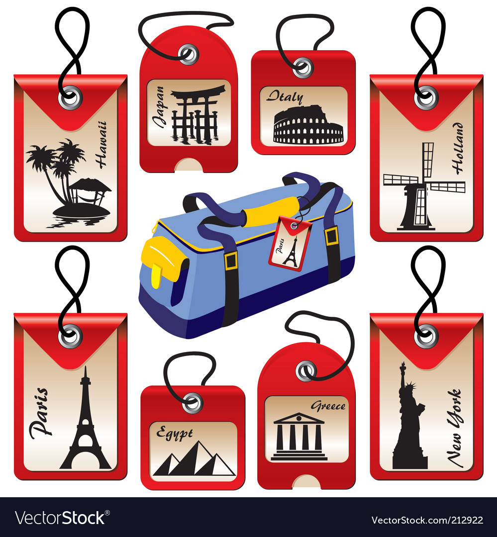 Travel landmarks vector | Price: 1 Credit (USD $1)