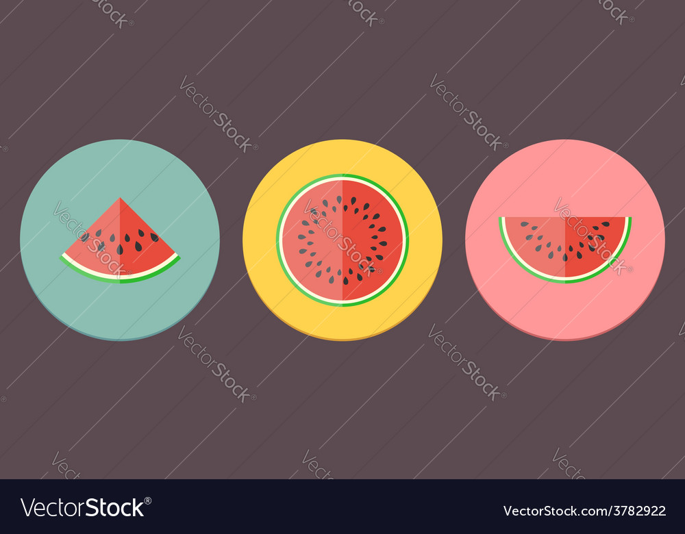 Watermelon icon collection vector | Price: 1 Credit (USD $1)