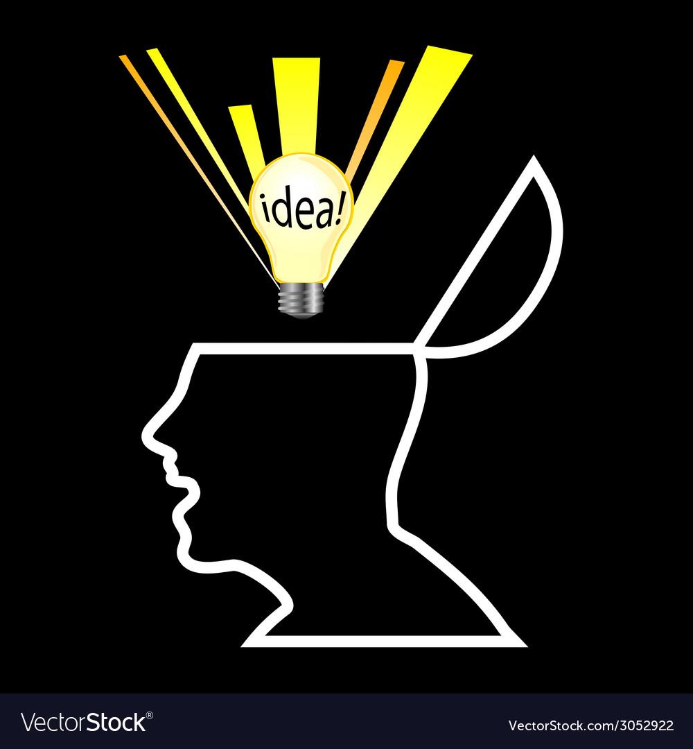 White head with idea vector | Price: 1 Credit (USD $1)