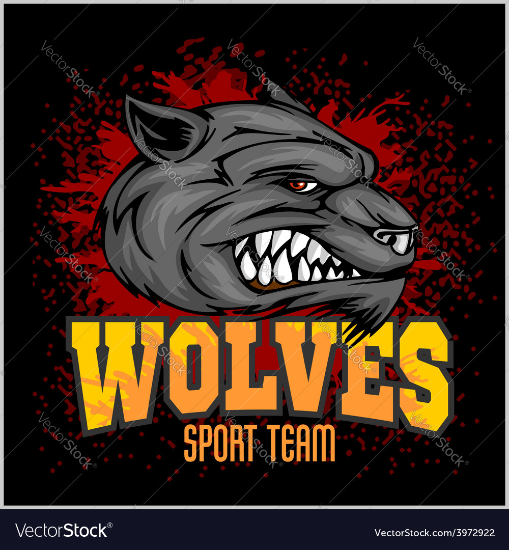 Wolf head mascot vector | Price: 3 Credit (USD $3)