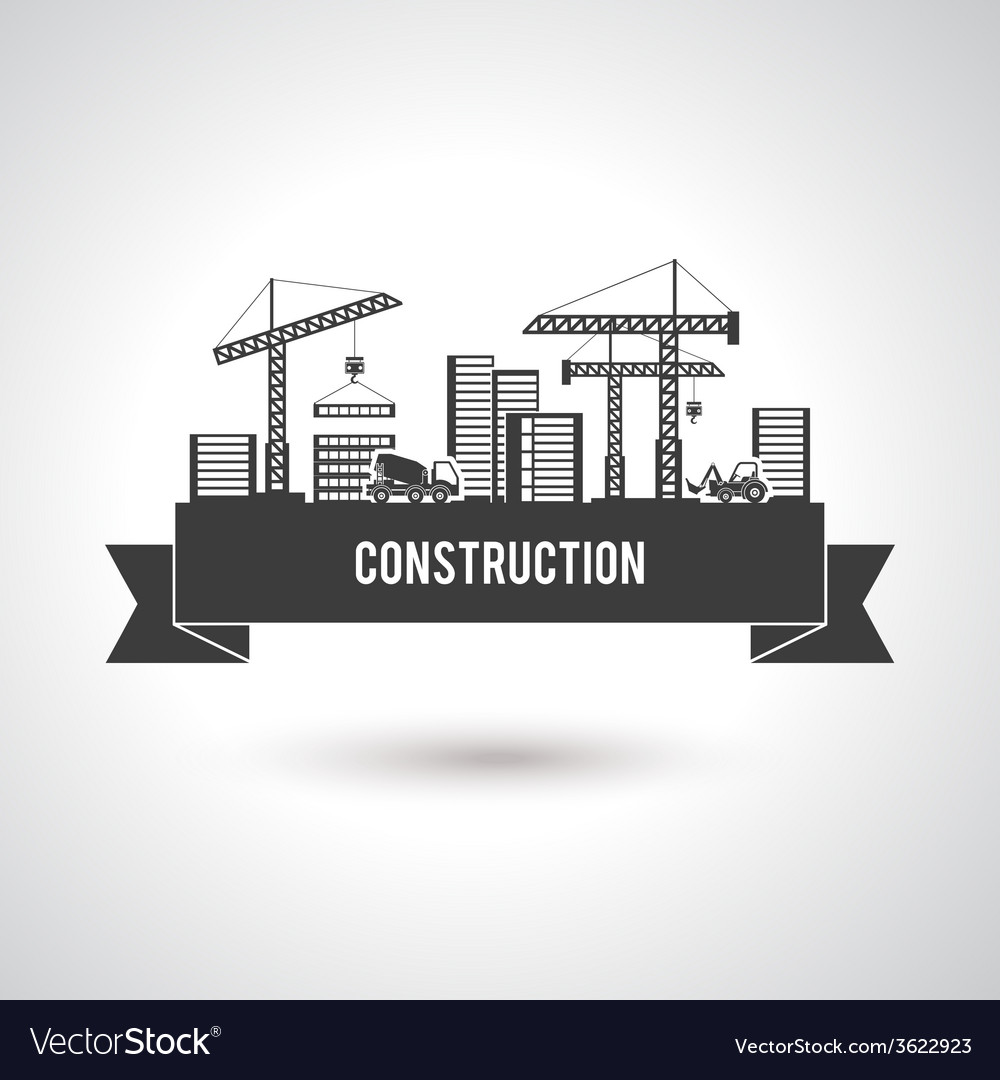 Building construction poster vector | Price: 1 Credit (USD $1)