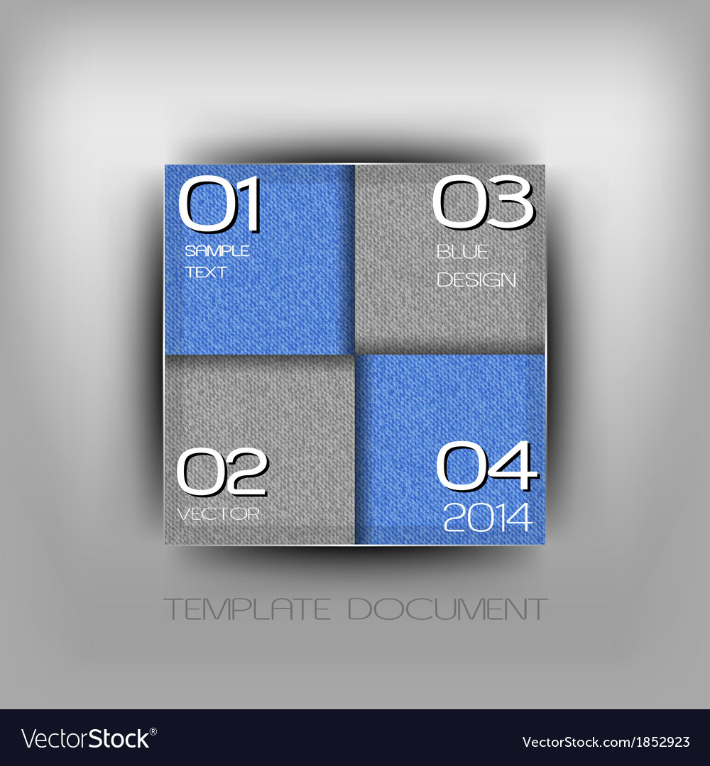 Business four squares blue with text grain vector | Price: 1 Credit (USD $1)