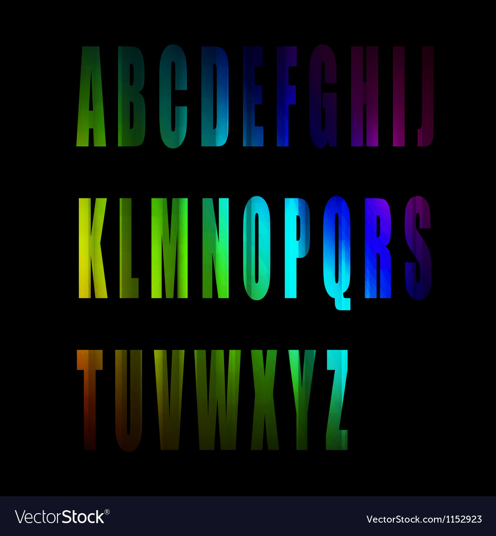 Colorful alphabet number vector | Price: 1 Credit (USD $1)