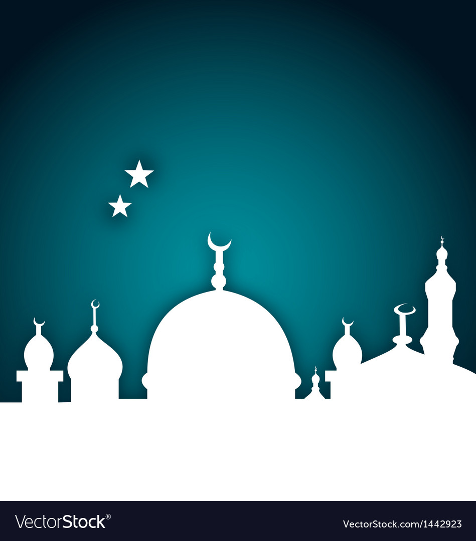 Elegant card with beautiful mosque vector | Price: 1 Credit (USD $1)