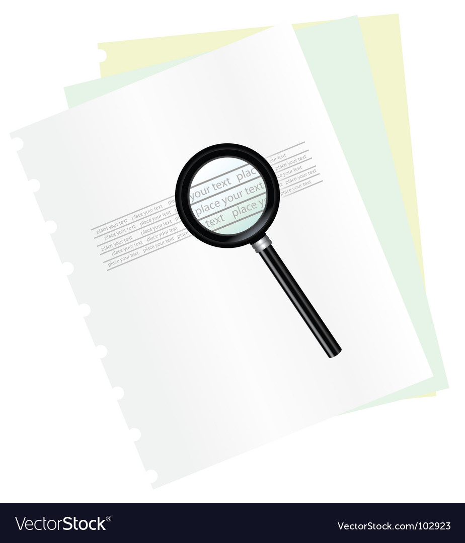 Magnifying and document vector | Price: 1 Credit (USD $1)