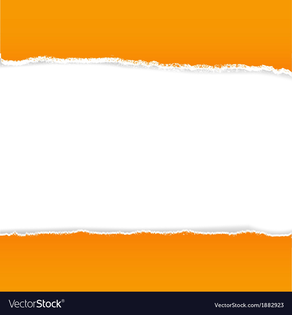 Orange rip paper vector | Price: 1 Credit (USD $1)