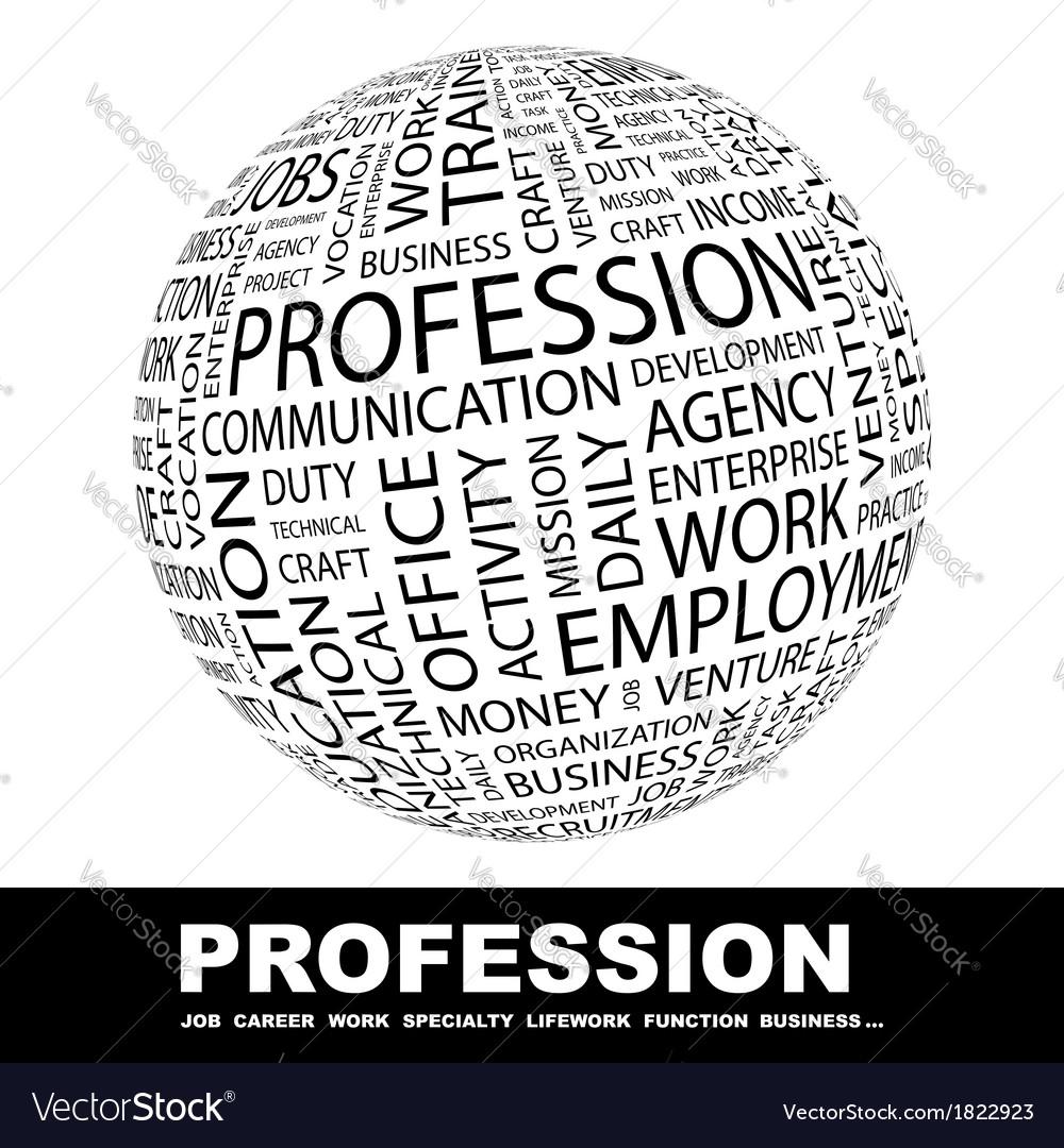 Profession vector | Price: 1 Credit (USD $1)