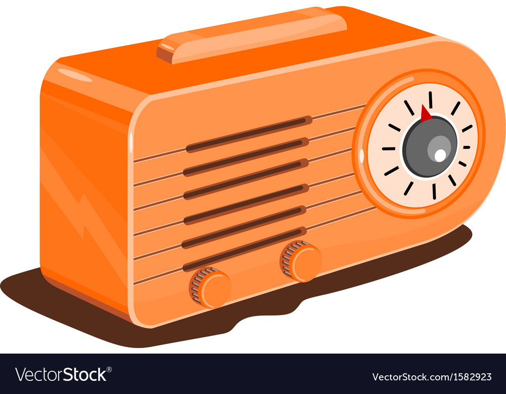 Radio retro vector | Price: 1 Credit (USD $1)