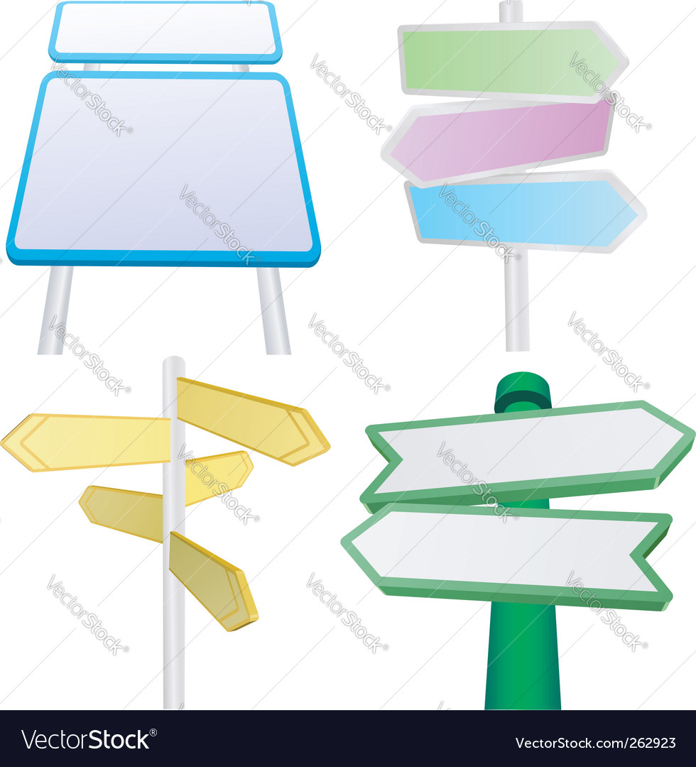 Signs and signposts vector | Price: 1 Credit (USD $1)