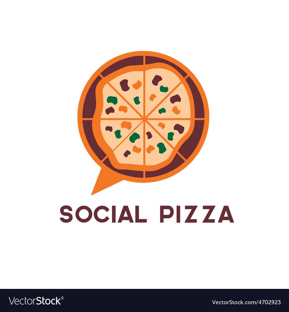 Social pizza design template vector | Price: 1 Credit (USD $1)