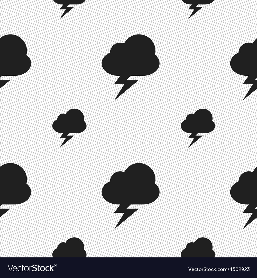 Storm icon sign seamless pattern with geometric vector | Price: 1 Credit (USD $1)