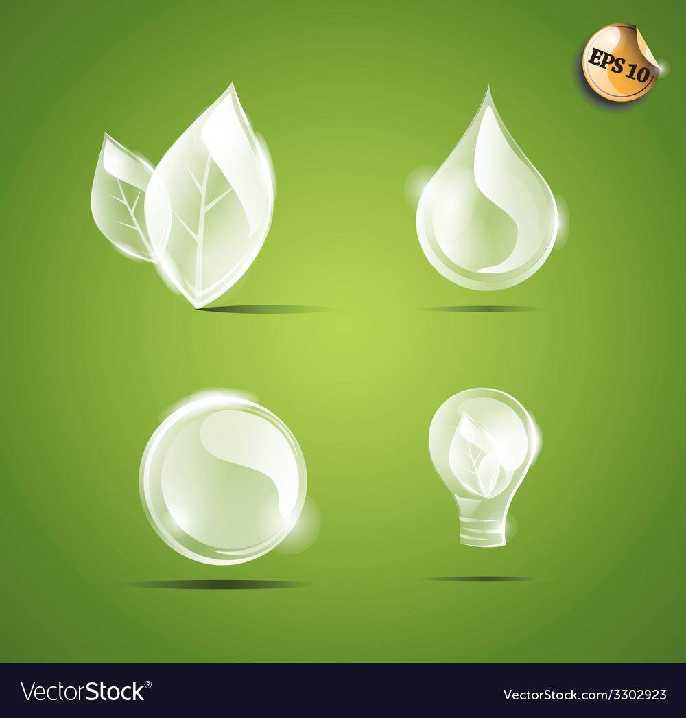 Transparent eco elements vector   Price: 1 Credit (USD $1)