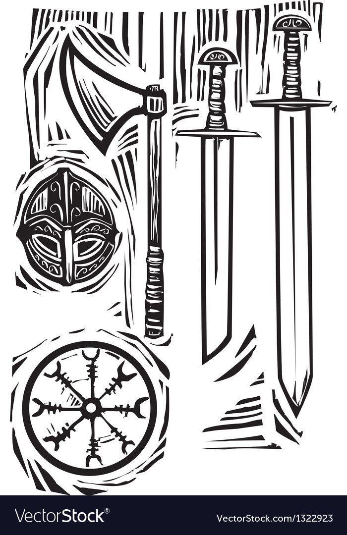 Viking weapons vector | Price: 1 Credit (USD $1)