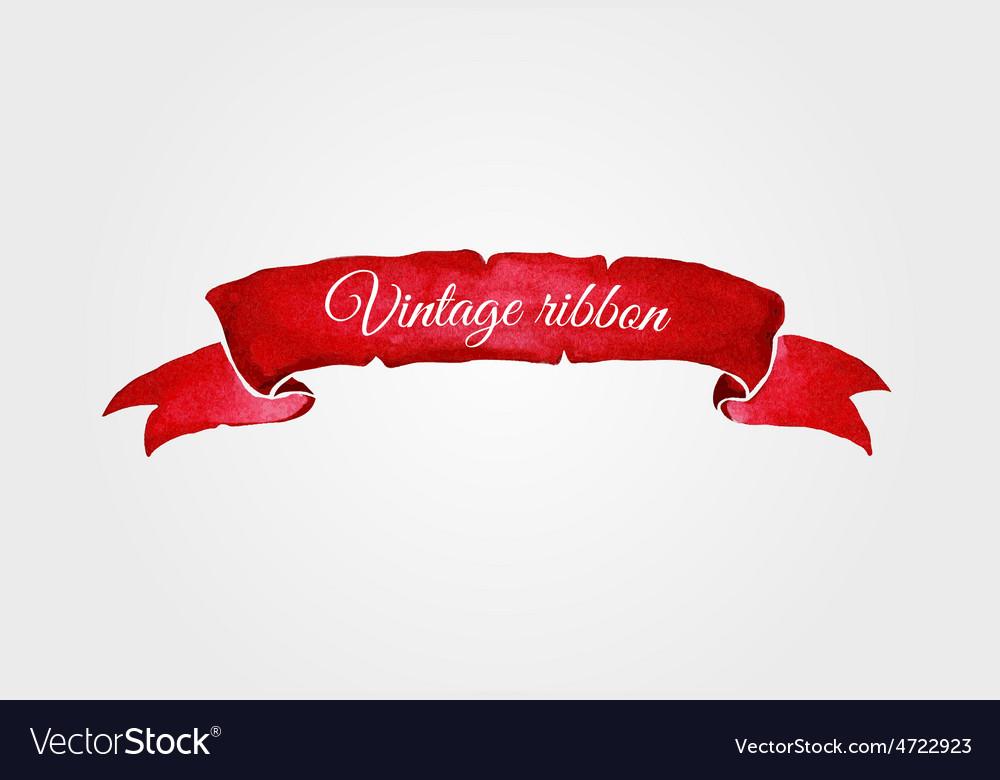 Watercolor vintage ribbon vector | Price: 1 Credit (USD $1)