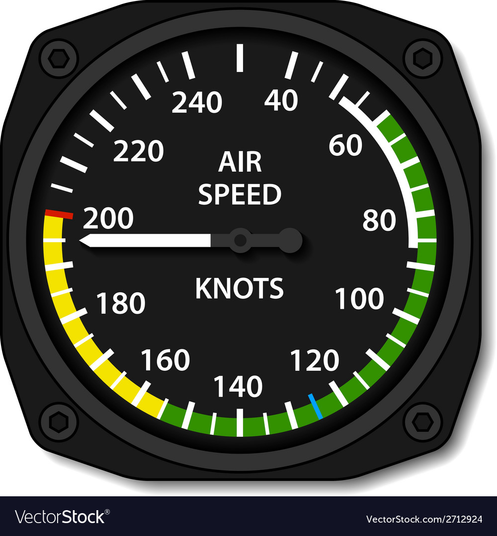 Aviation aircraft airspeed indicator vector | Price: 1 Credit (USD $1)