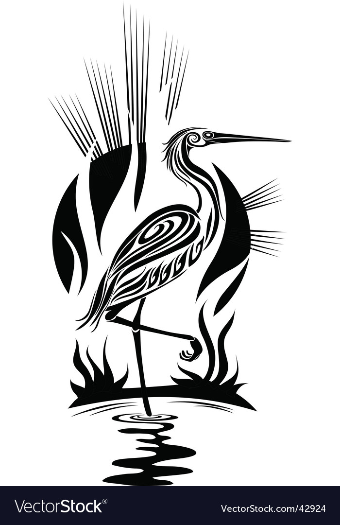 Black heron vector   Price: 1 Credit (USD $1)