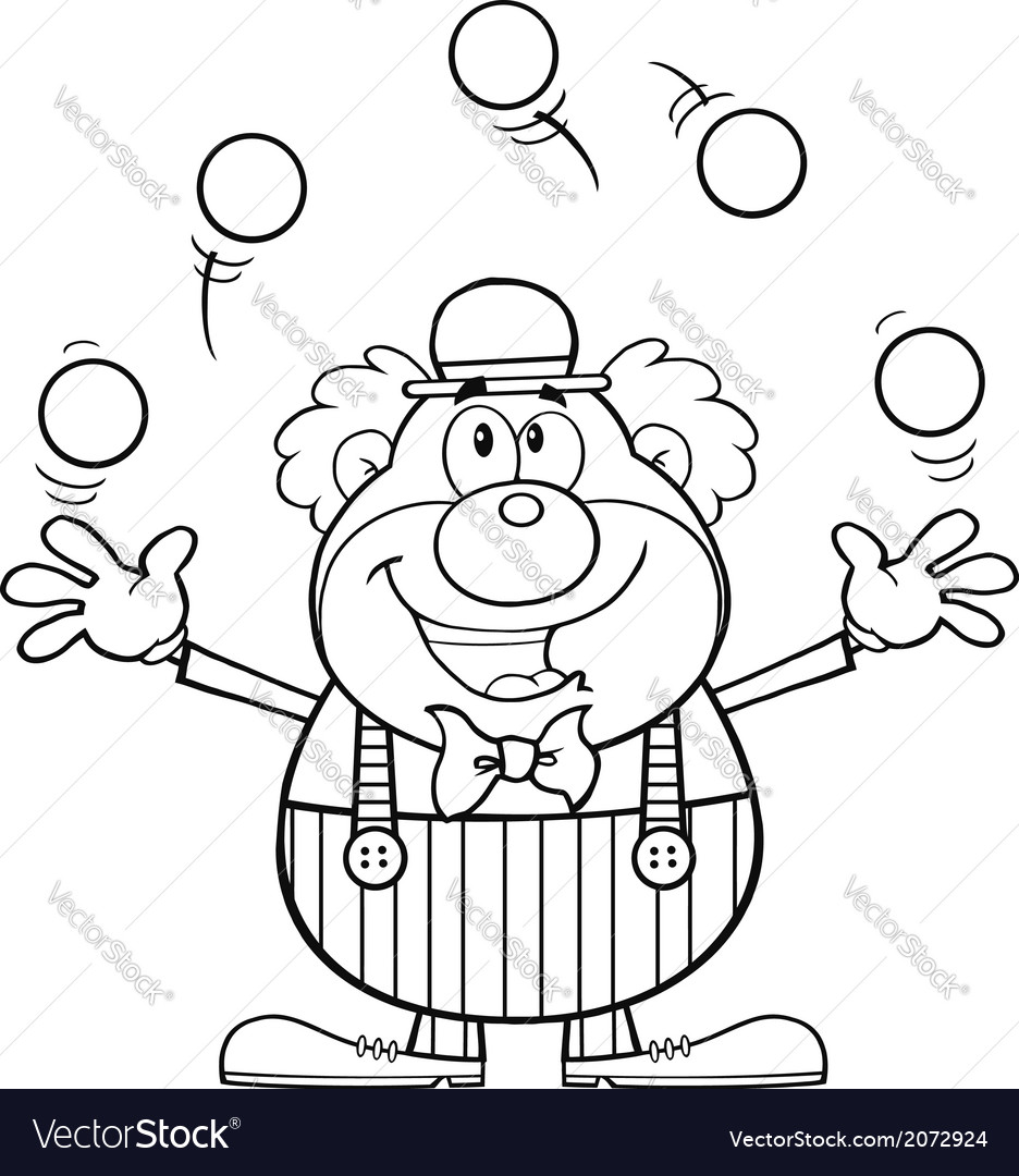 Cartoon clown vector | Price: 1 Credit (USD $1)
