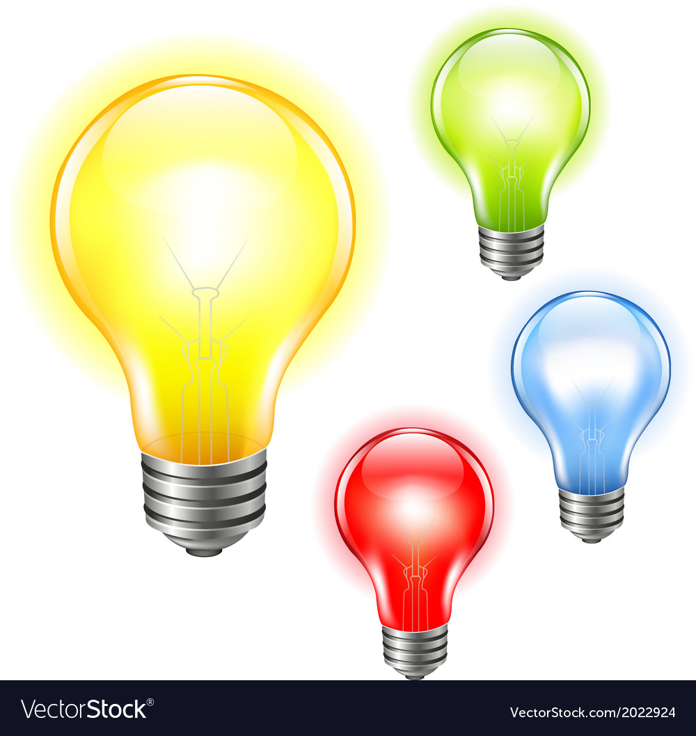 Color bulbs set vector | Price: 1 Credit (USD $1)