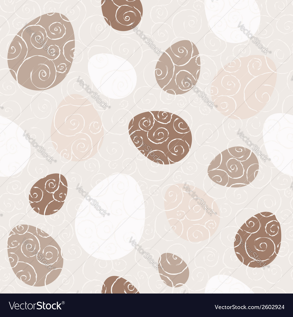 Easter eggs beige seamless pattern vector | Price: 1 Credit (USD $1)