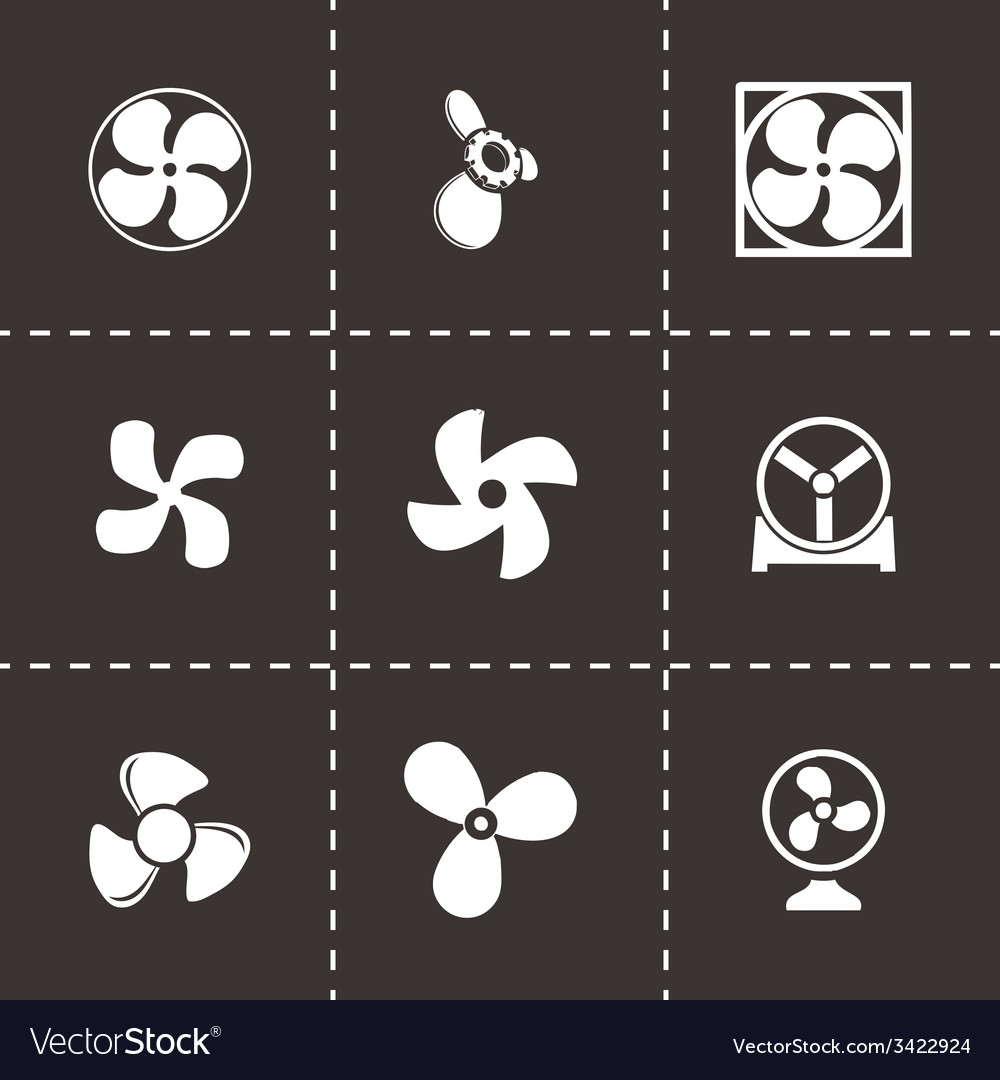 Fans and propellers icons set vector | Price: 1 Credit (USD $1)