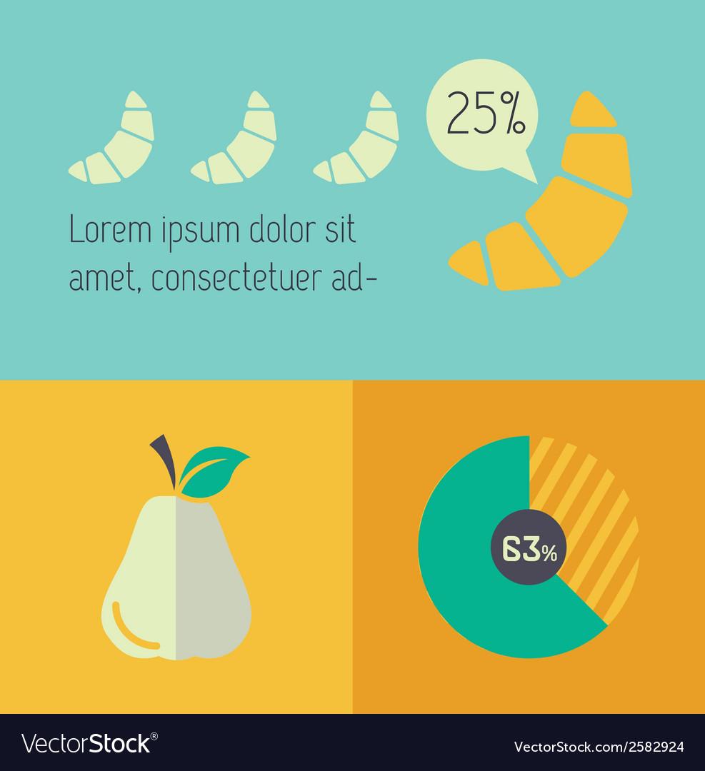 Food infographic element vector   Price: 1 Credit (USD $1)