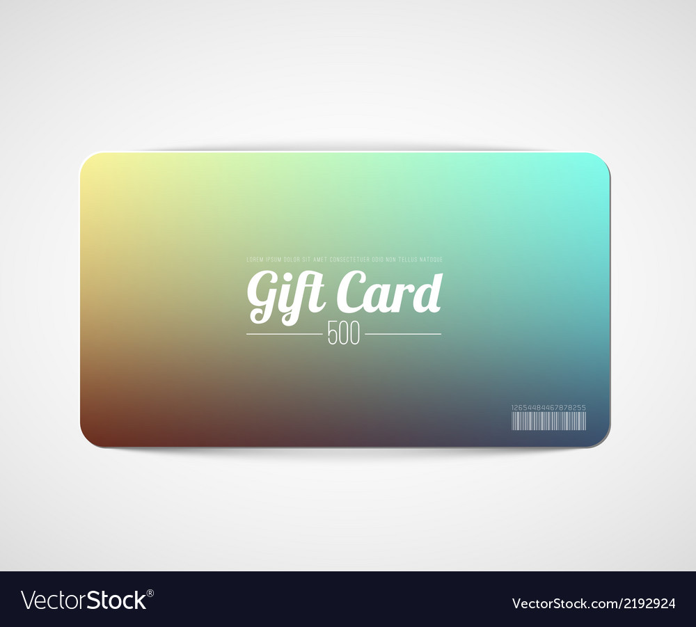 Modern simple gift card template vector | Price: 1 Credit (USD $1)