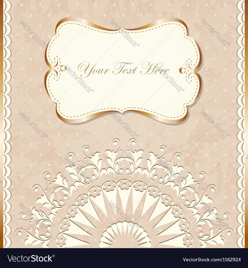 Romantic vintage border vector | Price: 1 Credit (USD $1)