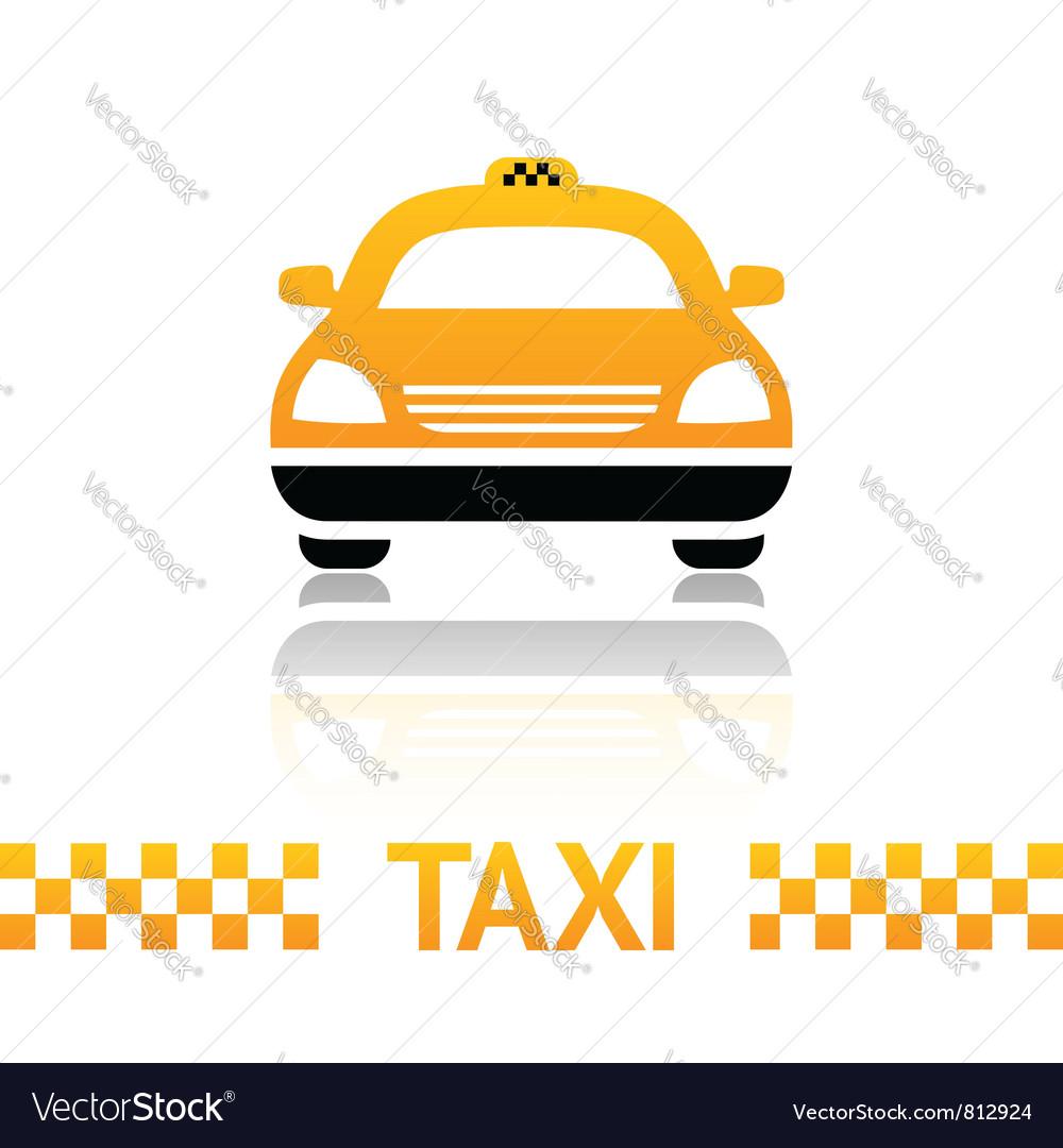 Taxi cab symbol vector | Price: 1 Credit (USD $1)