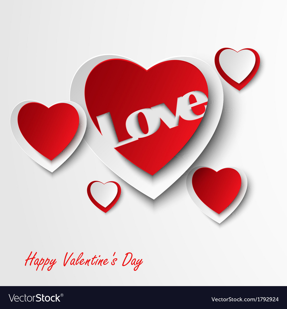 Valentine card with red hearts vector | Price: 1 Credit (USD $1)