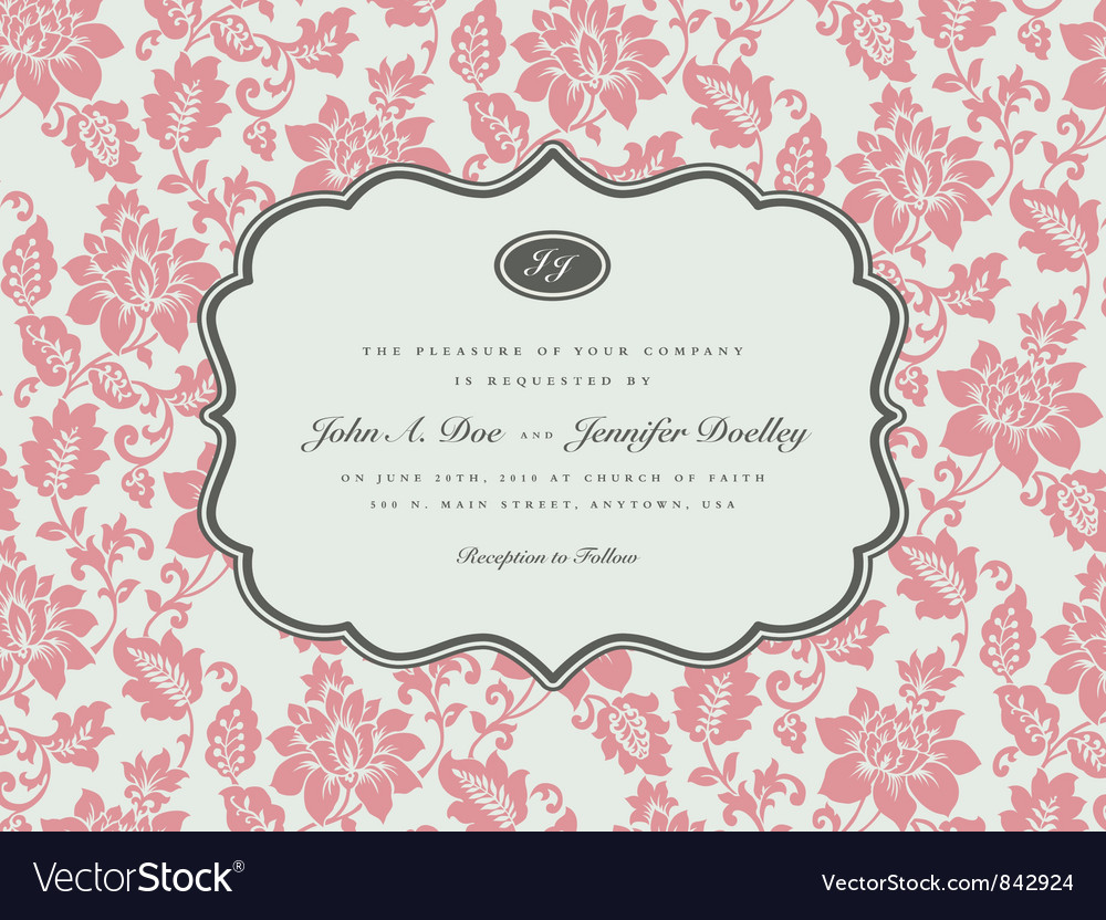 Wedding invitation templates vector | Price: 1 Credit (USD $1)