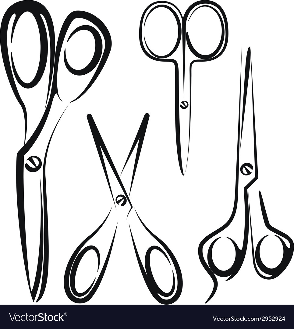 With a set of scissors vector | Price: 1 Credit (USD $1)