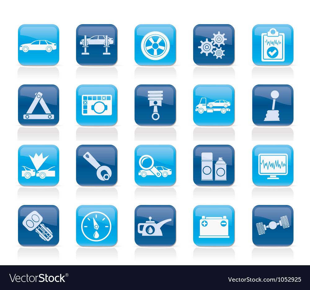 Car services and transportation icons vector | Price: 1 Credit (USD $1)