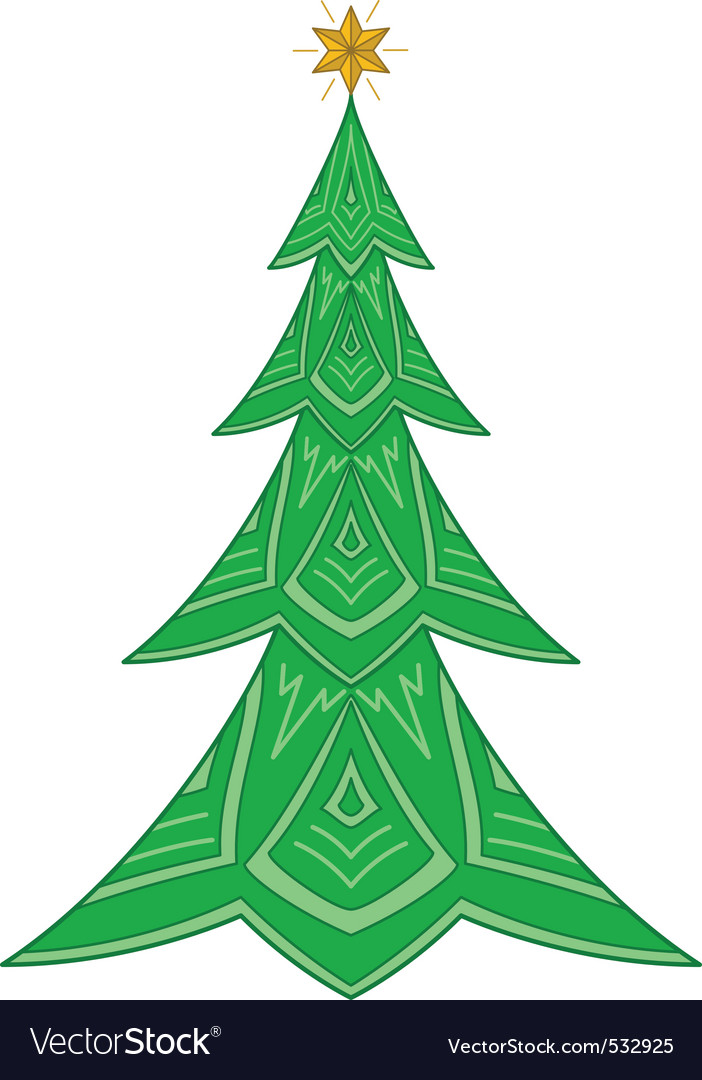 Christmas firtree with star vector | Price: 1 Credit (USD $1)
