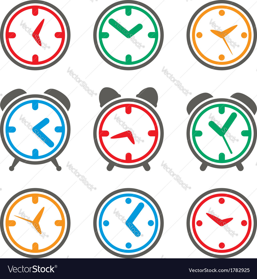Clock symbols vector | Price: 1 Credit (USD $1)