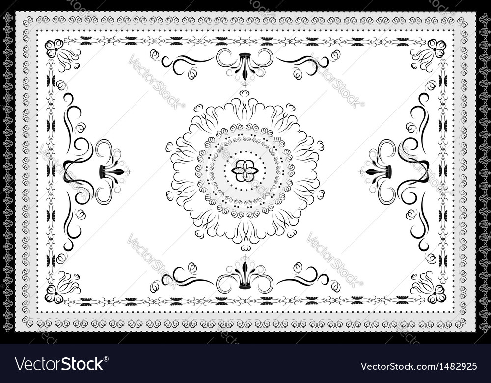 Decorative antique oriental pattern vector | Price: 1 Credit (USD $1)