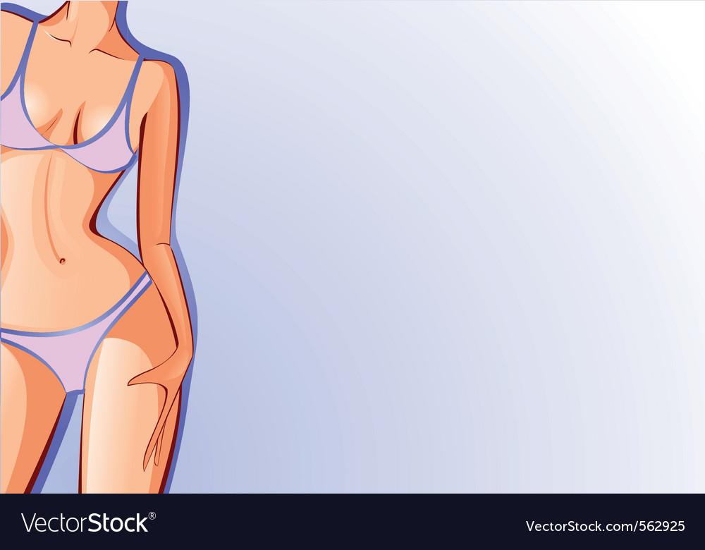 Female body swimsuit vector | Price: 1 Credit (USD $1)