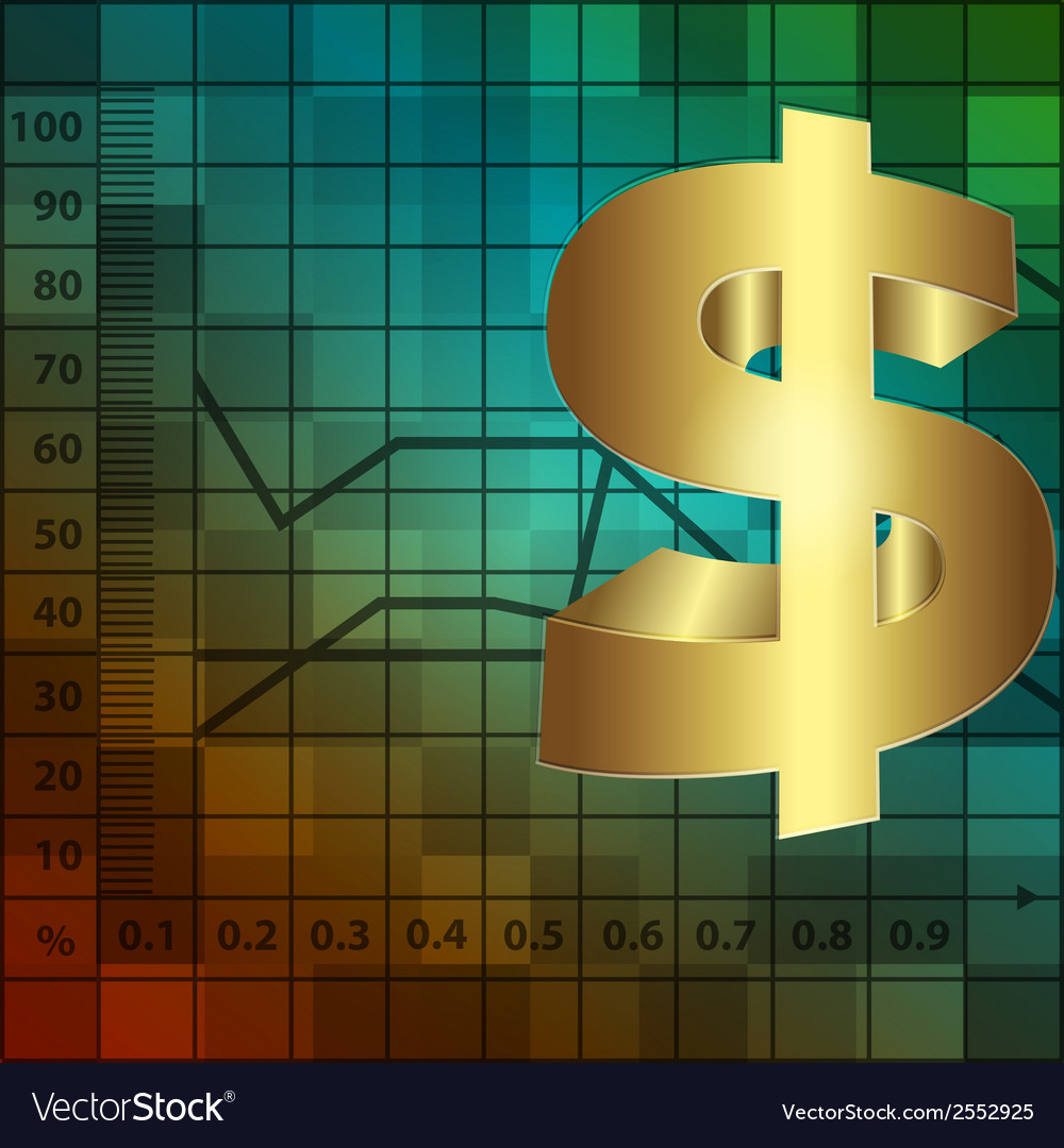 Financial background with dollar vector | Price: 1 Credit (USD $1)